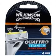 Wilkinson Sword Quattro Titanium Precision Резервни остриета 4 бр
