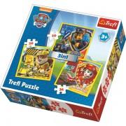 Trefl Puzzle Slagalica 3u1 Paw Patrol Marshall Rubble and Chase (34839)