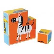 Puzzle cubic - animale de la Zoo