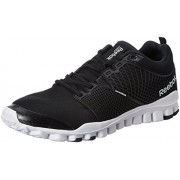 Reebok Men's Quick Tempo Flex Black,Grey,Silver And White Running Shoes - 8 UK
