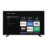 "Sharp 58"" ROKU TV 4K Televisión Inteligente UltraHD HDR WiFi Netflix Youtube HBO Hulu Y Muchas Aplicaciones Más LC-58Q7330U (Renewed)"
