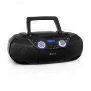 Auna Roadie 2K, boombox, CD плейър, касетно радио, DAB / DAB +, UKW, bluetooth, чрен (MG3-Roadie 2K BK)