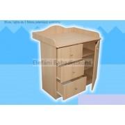 Kinder Möbel Réka Pelenkázó szekrény 1 ajtó 3 fiók (2 csomagos) #fehér ** CSAK SZEMÉLYES ÁTVÉTEL LEHETSÉGES!