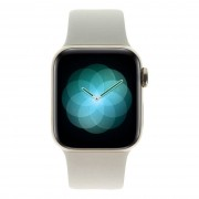 Apple Watch Series 4 Edelstahlgehäuse gold 40mm mit Sportarmband steingrau (GPS+Cellular) Edelstahl gold refurbished