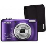Nikon Aparat Coolpix A10 Fioletowy z ornamentem + Pokrowiec