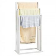 IDIMEX Porte-serviettes MELTON, en bambou, blanc