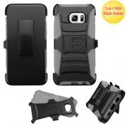 Clip Dual Protector Mixto c/pie Samsung Edge Plus Negro / Gris
