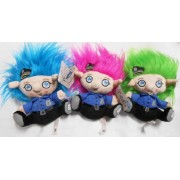 The Trolls by Treasures Collection: (one) 5.5 inch Plush Troll with Sound - Bobby, The Police Officer Troll