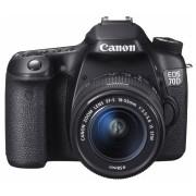 Cámara Réflex Canon EOS 70D, 20MP, Cuerpo + Lente 18-55mm