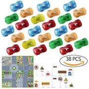 Pull Back Vehicles, 24 Pcs Assorted Mini Plastic Toy Racing Car, Interesting Vehicle Model Toy Sets, Party Bag Fillers for Boys, Girls, Children, Kids Babies and Toddlers age 3 years old
