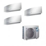 Daikin Condizionatore Daikin Trial Split Inverter Emura White 7+7+18 7000+7000+18000 Btu A+++ Wifi R32 3mxm52n