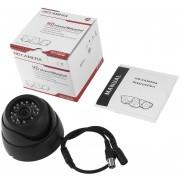 ER 1/3 '' 1200TVL 24 Luces LED De Visión Nocturna Resistente Al Agua De 3.6mm Lente HD Videocámara Negro