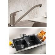 BLANCO DARAS silgránit HD csaptelep - BLANCO CLASSIC 8 gránit mosogatótálca szett - jázmin