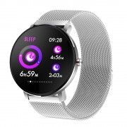 K9 PRO Color Screen Metal Appearance Touch Call Reminder Sport Smart Watch - Silver
