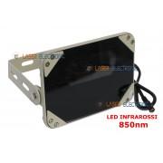 FARETTO ILLUMINATORE A LED INFRAROSSI SE8-45-C-IR 12VDC VISIONE NOTTURNA 80 METRI