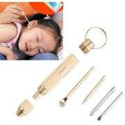 4 in 1 Multifunctional Ear Spoon EarPick Tool Set Cross Screwdriver Toothpick Ear Pick Pin Key Chain Copper Ear Care Cle