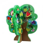 Alcoa Prime Wooden Fruits Tree Threading Beads Kids Lacing Activity Puzzle Toy Game #A