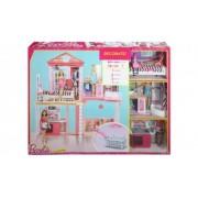 Barbie My Style The Complete Home Set include 3 papusi si 3 seturi de mobilier FCK15