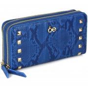 Billetera Cloe Con Detalle De Studs - Azul