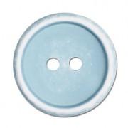 Jim Knopf Basic-/ Kinder-Knopf, Ø 18 mm - Hellblau