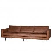 Couch aus Recyceltem Leder Cognac Braun