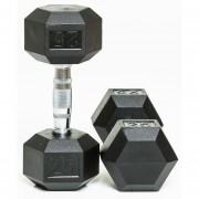 Par De Mancuerna Hexagonal 25Lb Fitness Solutions.