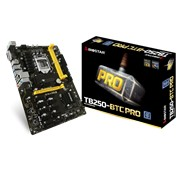 Biostar TB250-BTC PRO Ver. V6.3 Socket LGA 1151 Motherboard - Support the Intel 7th generation Core i7, Core i5, Core i3 processors in the 1151 packag