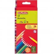 Creioane colorate triunghiulare 12 culori/set HERLITZ