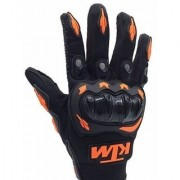 For KTM Duke 390/RC390 Inspired Motorcycle Racing Glove Orange Black XL