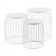 [en.casa] Konferenčné stolíky ABTM-2708 biele