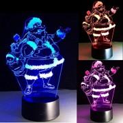 Decoratiune Luminoasa Led 3D Acril Mos Craciun 220V 20cm