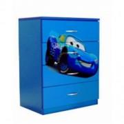 Comoda copii Fulger albastru 4 sertare