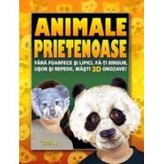 Cartea cu măşti: Animale prietenoase.