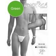Icker Sea Solid Micro G String Underwear Green COI-12-146