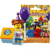 Lego Mini Figure Series 18 Birthday Party Girl [Unopened] | Lego Collectable Minifigures Series 18 Birthday Party Girl [71021-6]