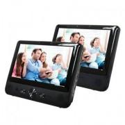 """Riproduttore DVD Portatile MTW-984TWIN 9"""" LCD Nero"""