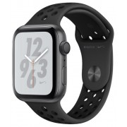 Smartwatch Apple Watch 4 Nike Plus, 40mm, LTPO OLED Retina Display, GPS, Bluetooth, Wi-Fi, Bratara Sport Antracit/Negru, Carcasa aluminiu, Rezistent la apa si praf (Space Gray) + Cartela SIM Orange PrePay, 6 euro credit, 6 GB internet 4G, 2,000 minute nat