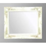 White Swept Bevelled Mirror 30X20