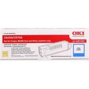 Oki toner cyan oryginał 43872307