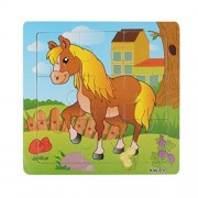 Lavany Lavany Wooden Chunky Puzzle Horse Jigsaw Toys For Kids Education And Learning Puzzles Toys