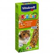 Baton pentru Hamsteri Vitakraft cu Miere si Grau Spelt, 2buc