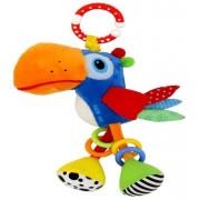 Baby Mix babakocsira vagy babahordozóra szerelhető plüss papagáj