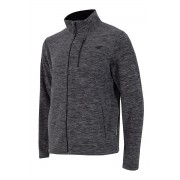 Bluza barbateasca 4f gri, material fleece
