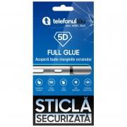 Folie sticla telefonultau 5D Full Cover, Xiaomi Mi A3, Full Glue, Black