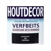 Hermadix Houtdecor verfbeits Antraciet dekkend