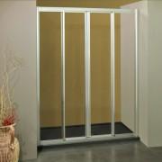 Porta doccia scorrevole con apertura centrale 1105/4 da 123/131 cm in cristallo 4 mm