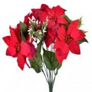 Buchet craciunite rosii decoratiune Craciun