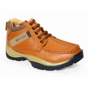 Red Chief Tan Men Low Ankle Outdoor Casual Leather Shoes (RC2051 107)