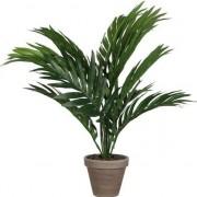 Mica Decorations Groene Areca palm kunstplant in pot 40 cm woonaccessoires/woondecoraties Groen
