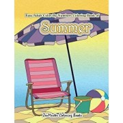 Easy Adult Color by Numbers Coloring Book of Summer: A Simple Summer Color by Number Coloring Book for Adults with Beach Scenes, Flowers, Ocean Life a, Paperback/Zenmaster Coloring Books